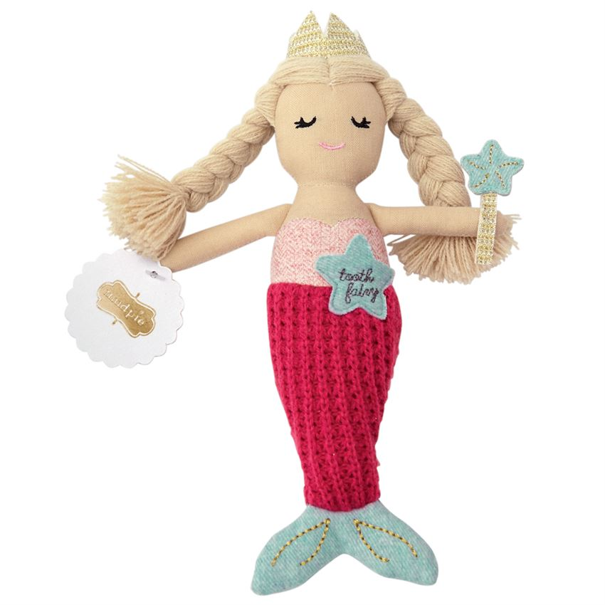 Mud Pie Plush Mermaid Tooth Fairy Doll