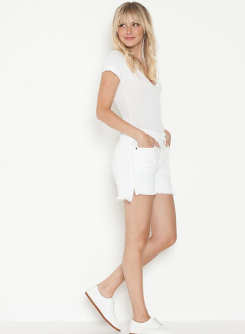 Parker Smith Side Fray Short Blanc
