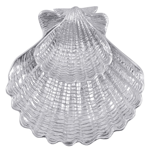 Mariposa Scallop Shell 2-Piece Chip & Dip Set