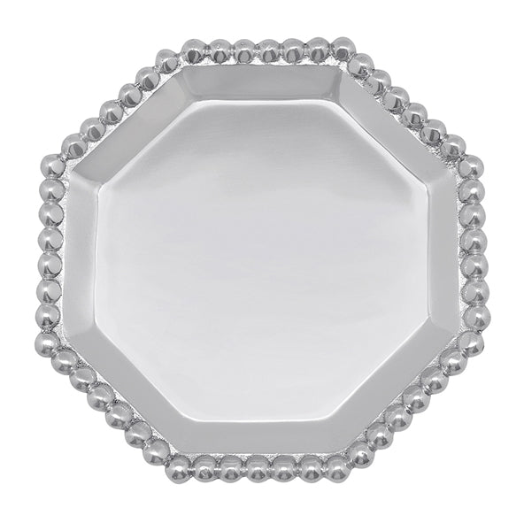 Mariposa Pearled Octogonal Canapé Plate