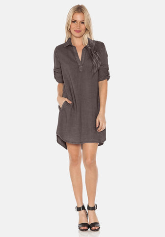 Bella Dahl L/S A-Line Shirt Dress