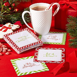 Two's Company Holiday Coasters - ShopBody.com