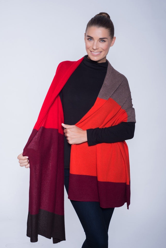 In Cashmere Color Block Shawl