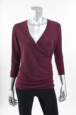 Joseph Ribkoff 3/4 Sleeve Crossover Top - ShopBody.com - 1