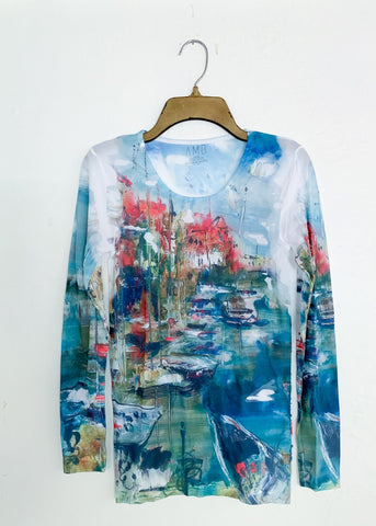 AMB Amalfi Crew Neck Second Skin Top