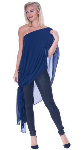 Analili Gabby One Shoulder Asymmetric Top