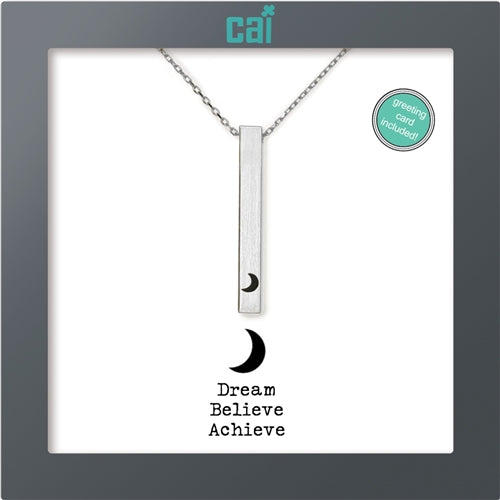 CAI Secret Message Necklace - Dream Believe Achieve