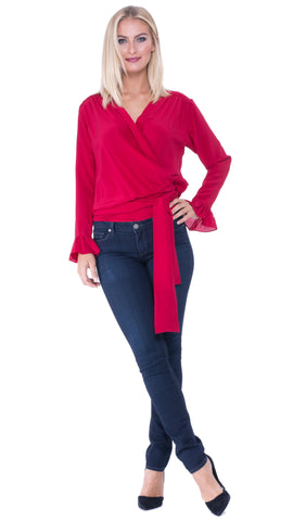 Analili Jackie Wrap Top