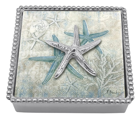 Mariposa Spiny Starfish Napkin Box