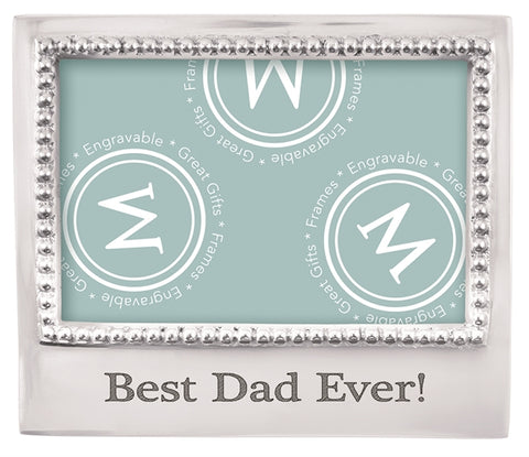 Mariposa Best Dad Ever Beaded 4x6 Frame