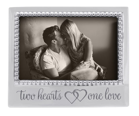 "Mariposa ""Two Hearts, One Love"" Beaded Frame"