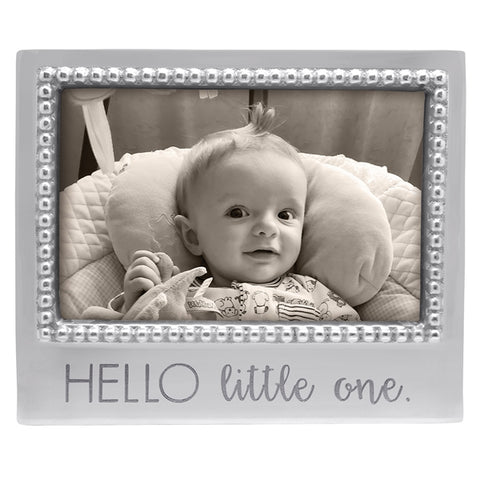 Mariposa Hello Little One Beaded 4x6 Frame