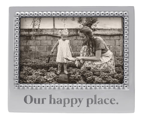 "Mariposa ""Our Happy Place"" 4x6 Frame"