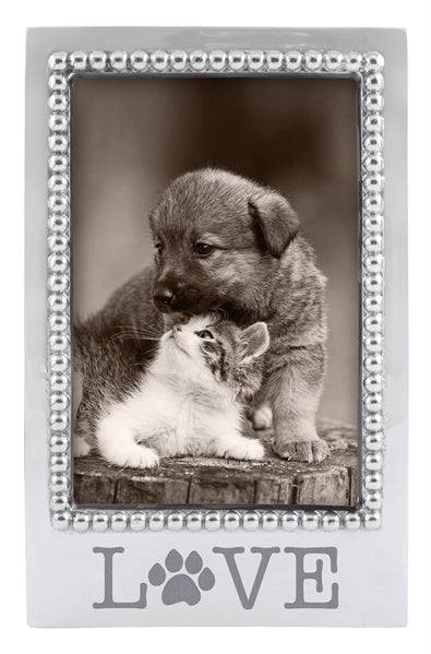 Mariposa LOVE Paw Beaded 4x6 Frame