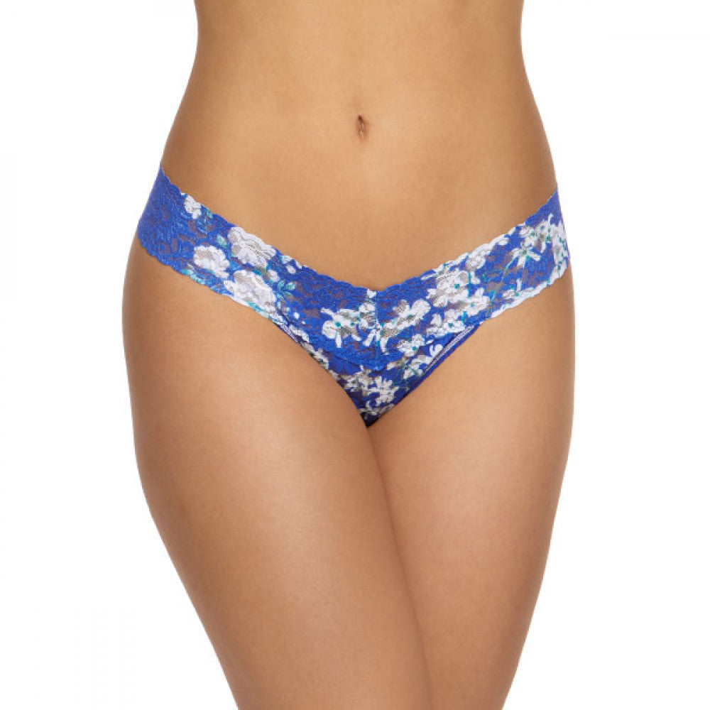 Hanky Panky Rolled Blue Belle Low Rise Thong