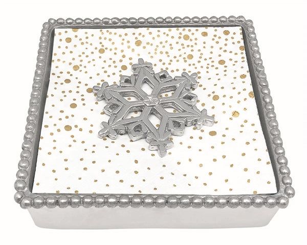 Mariposa Open Snowflake Beaded Napkin Box