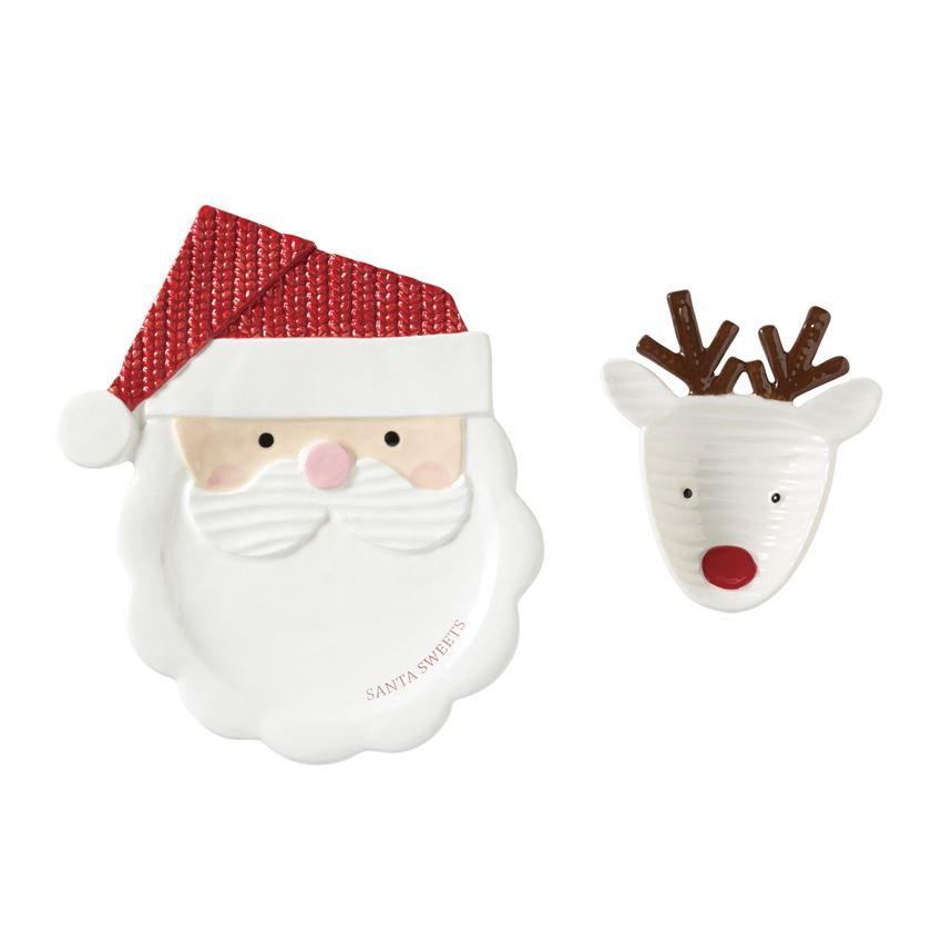 Mud Pie Night Before Christmas Santa & Reindeer Set