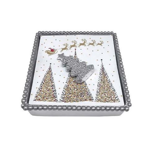 Mariposa Dotty Tree Beaded Napkin Box