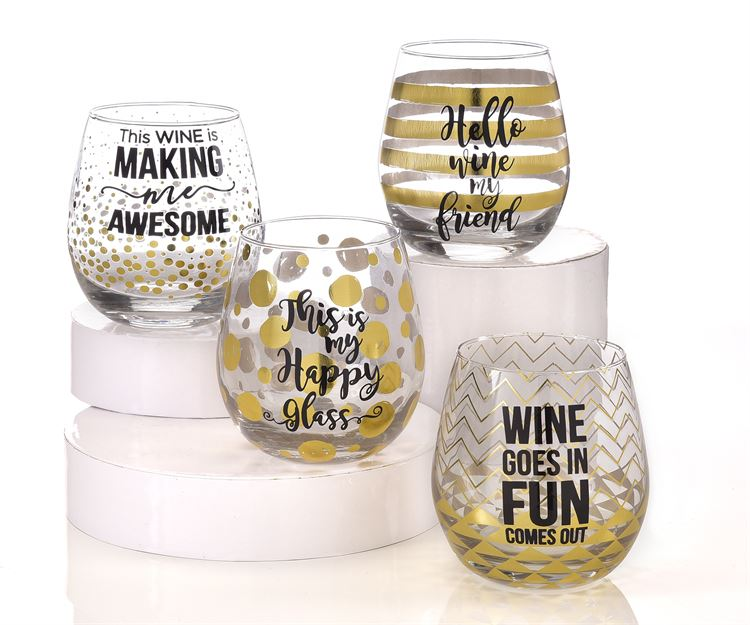 Giftcraft Stemless Wine Glass