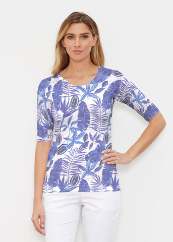 Whimsy Rose Elbow Sleeve Crew Shirt