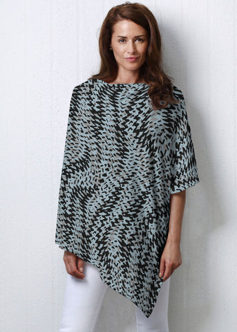 Whimsy Rose Textured Tracks Slub Poncho