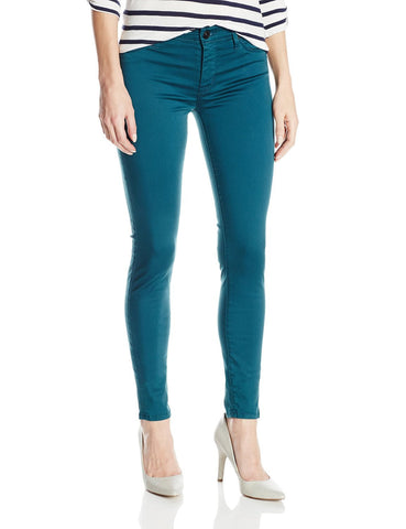 Hudson Nico Mid-Rise Stretch Skinny Graphite Teal