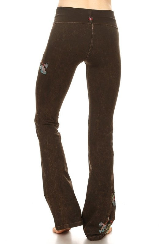 64f65f9f85 T-Party Hummingbird Embroidered Mineral Yoga Pant – ShopBody.com