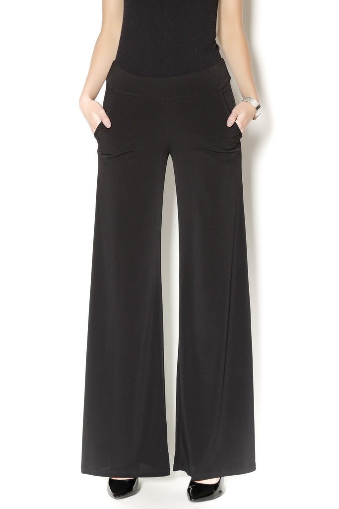 Veronica M Black Palazzo Pocket Pant - ShopBody.com - 1