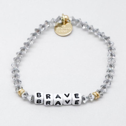 Little Words Project Beaded White - Brave in Comet Light