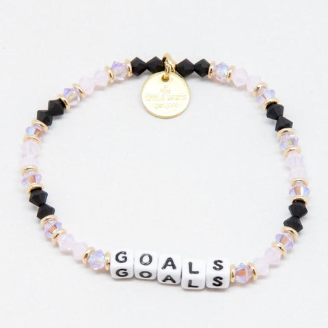 Little Words Project Beaded White - Goals