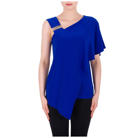 Joseph Ribkoff Ruffle One Shoulder Top