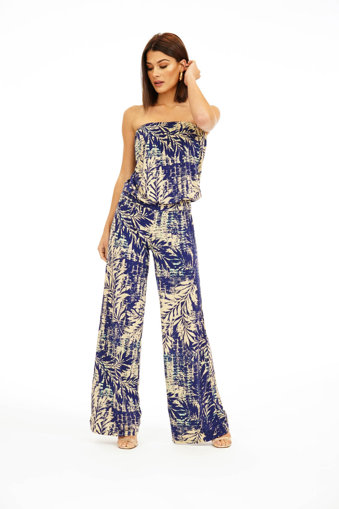 Veronica M. Strapless Drop Waist Jumpsuit