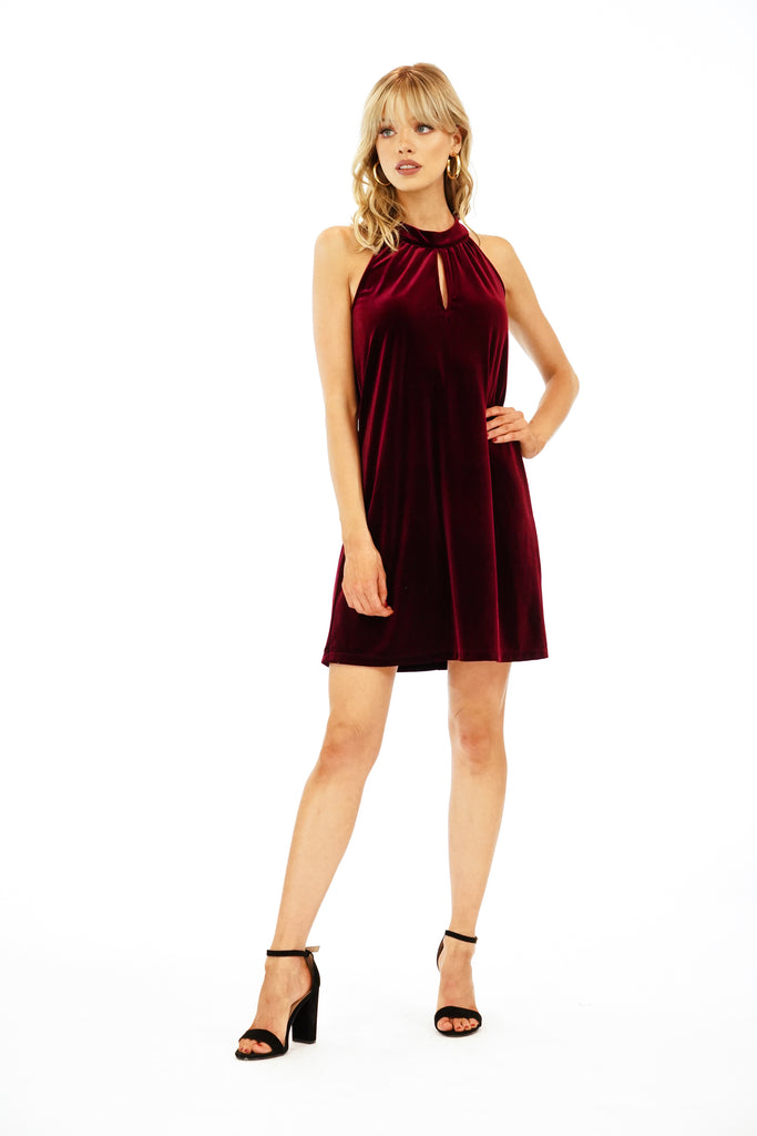 Veronica M. Halter Keyhole Dress
