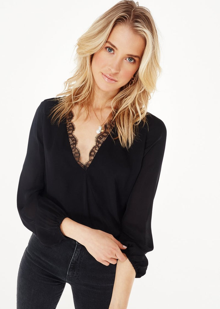 Cami NYC Suraya Black Blouse