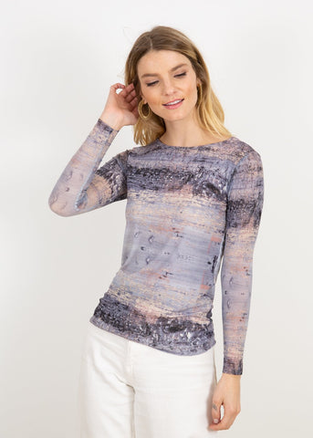 AMB LaPiel Silver Canvas - Florence Double Sheer Top