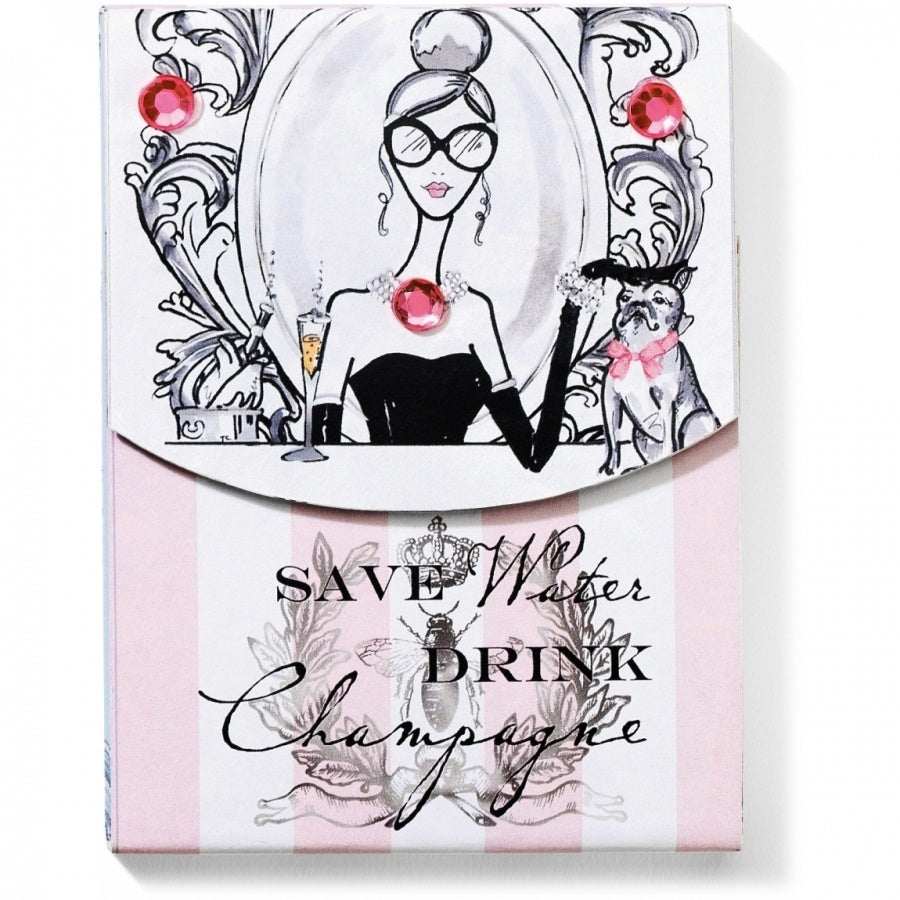 Brighton Drink Champagne Pocket Notepad