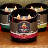 Torched Growler Candle