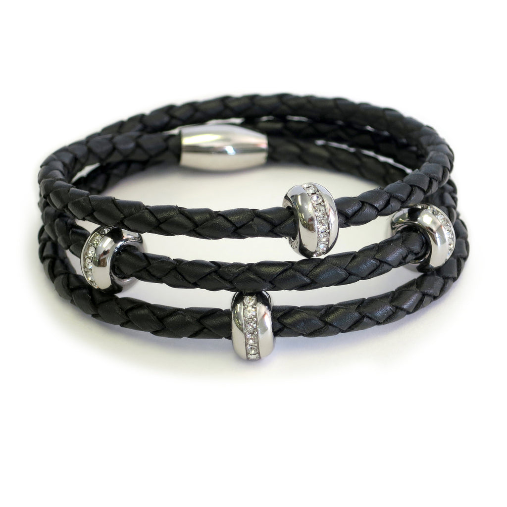 Liza Schwartz Good Karma Triple Wrap Silver