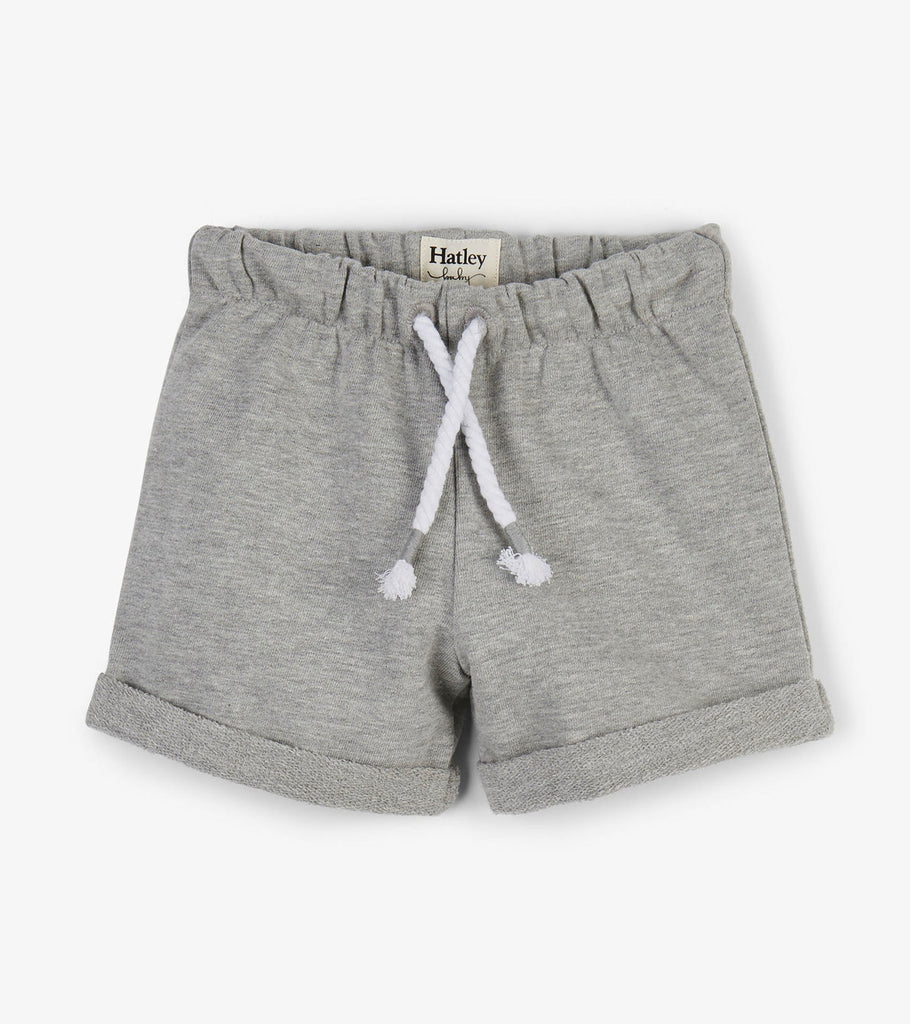 Hatley Kids French Terry Baby Shorts -Grey