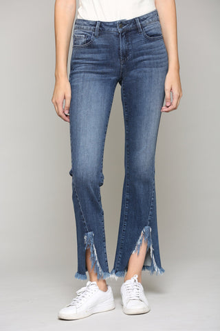 Hidden Jeans Happi Dark Wash Split Hem Flare