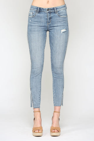 Hidden Jeans Amelia Side Piping Crop Skinny