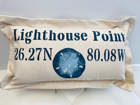 Lowcountry Linens Lighthouse Point Pillow - Sand Dollar