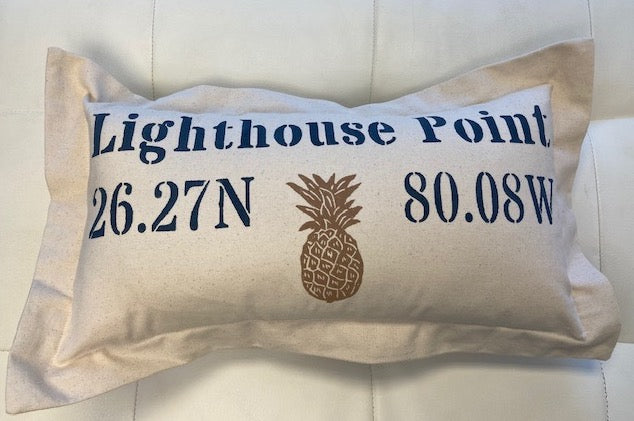 Lowcountry Linens Lighthouse Point Pillow - Pineapple