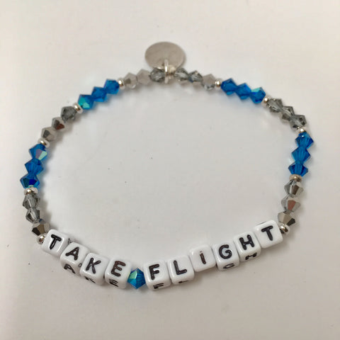 Little Words Project Beaded White - Take Flight