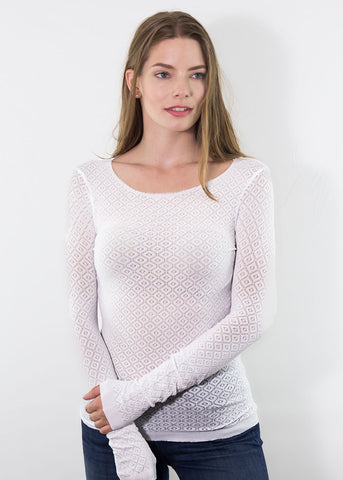 AMB Kara Knitted Long Sleeve Top