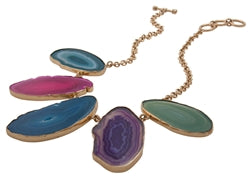 Charles Albert Alchemia - Agate Slice Necklace