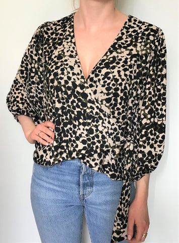 Veronica M Wrap Blouse - Margot
