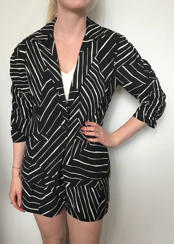 Veronica M Shirred Sleeve Blazer