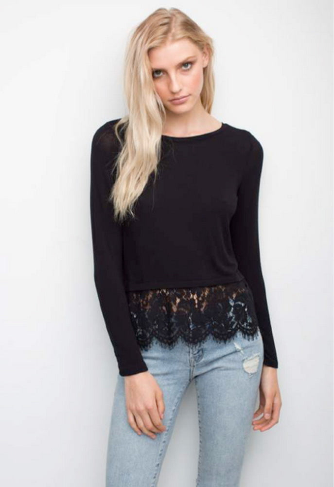 Generation Love Jules Lace Button Back Top