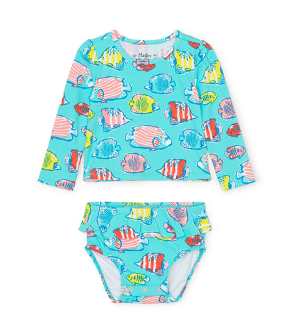 Hatley Kids Colorful Fishies Baby Rashguard Set